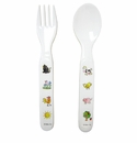 Baby Cie Fork & Spoon Farm Animals -Blue