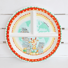Baby Cie Imagine The World Round Sectioned Plate