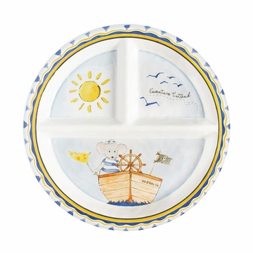 Baby Cie L'Aventure Attend 'Adventure Awaits' - Round Textured Sectioned Plate