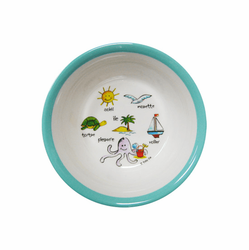 Baby Cie Ocean Melamine Child's Suction Bowl