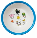 Baby Cie Suction Bowl Farm Animals-Blue
