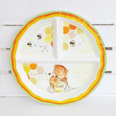 Baby Cie Sweet As Honey Round Sectioned Plate
