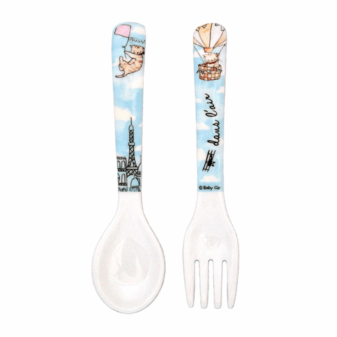 Baby Cie Textured Fork & Spoon Up In Air