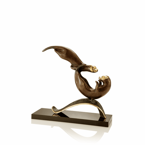 Balancing Act Otters Sculpture by SPI Home