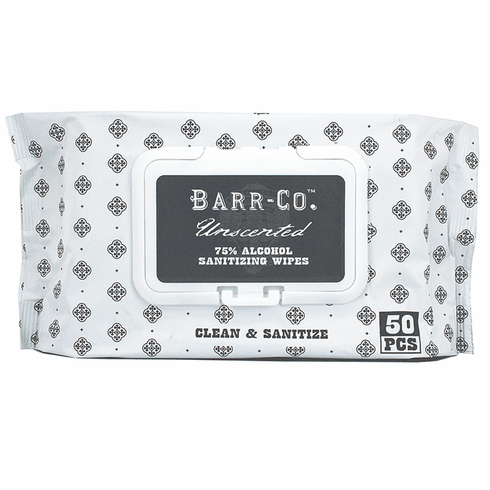 Barr Co Unscented Sanitizing Wipes - Package of 50