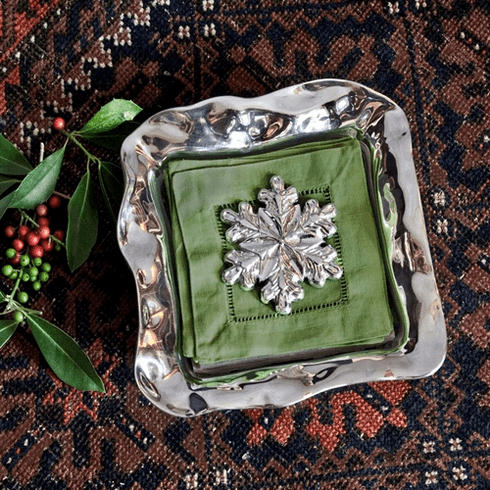 Beatriz Ball Holiday Snowflake Napkin Weight