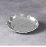 Beatriz Ball Organic Pearl Round Engraved Tray- Peace!