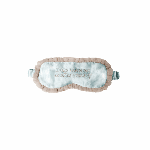 Bella il Fiore Silk Sleeping Mask - Does Yawning Count as Exercise?
