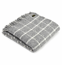 Birchwood Chequered Throw Grey