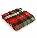 Birchwood Forest Green & Red Check Throw