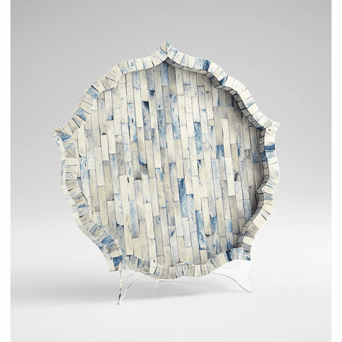 Blue Large Mirage Tray by Cyan Design