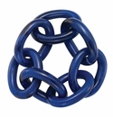 Bodrum Chain Link Navy Napkin Rings Set of 4