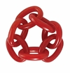 Bodrum Chain Link Red Napkin Rings 4 Pack