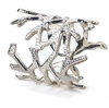 Bodrum Coral Silver Napkin Rings 4 Pack