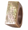 Bodrum Cracked Shell Champagne Napkin Rings 4 Pack