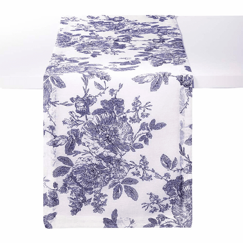 Bodrum French Garden Navy 90 inch Table Runner