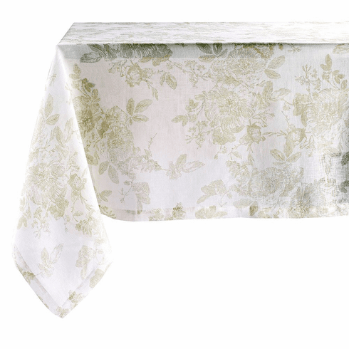 Bodrum French Garden Willow 63 inch x 108 inch Tablecloth