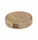 Bodrum Luster Sand Boxed Coaster Set of 4
