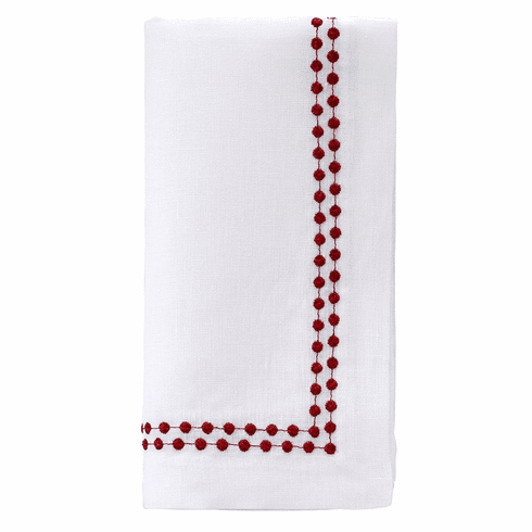 "Bodrum Pearls Ruby 21"" Napkin (Set of 4)"