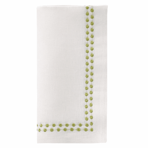 """Bodrum Pearls Willow 21"""" Napkins (Set of 4)"""