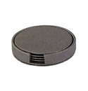 Bodrum Skate Charcoal Round Boxed Coaster (Set of 4)