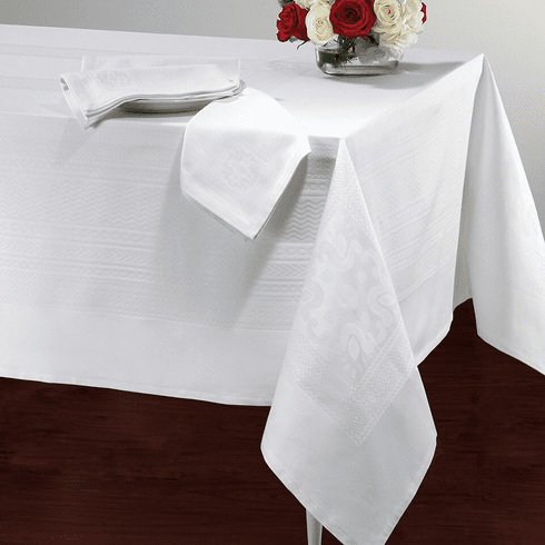 Bodrum Villa Tablecloth White 63x108