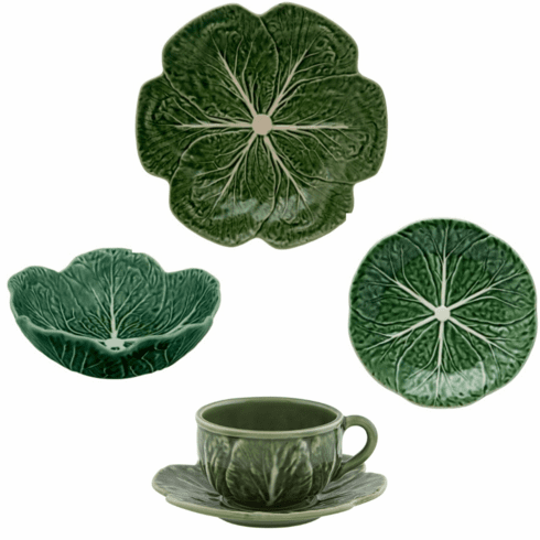 Bordallo Pinheiro Vista Alegre Cabbage 20 Pieces Set Green