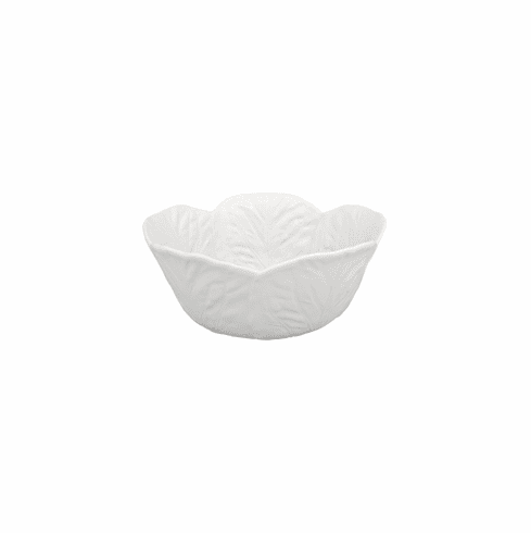 Bordallo Pinheiro Vista Alegre Cabbage Tall Salad Bowl - Beige