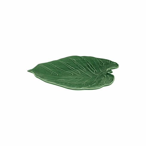 Bordallo Pinheiro Vista Alegre Leaves Swiss Cheese Platter - Green