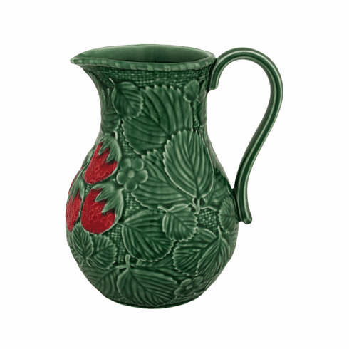 Bordallo Pinheiro Vista Alegre Strawberries Pitcher - Decorated