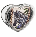 Brighton Africa Stories Heart Compact Mirror Multi