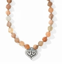 Brighton Alcazar Heart Short Necklace Moonstone