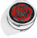 Brighton Allure Compact Mirror Black-Red