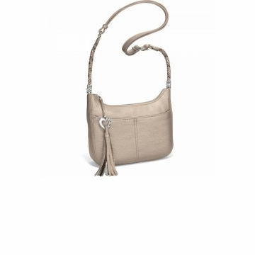 Brighton Baby Barbados Cross Body Hobo Zinc Pearl