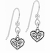 Brighton Bella Heart Dangle French Wire Earrings