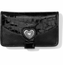 Brighton Bellissimo Heart Card Case Black