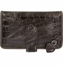 Brighton Bellissimo Heart Card Case Pewter