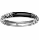 Brighton Catania Hinged Bangle Black