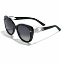 Brighton Chara Ellipse Sunglasses Black-Pearl