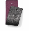 Brighton Christo Wide Strap Black Sparkle-Plum