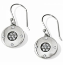 Brighton Contempo Ice Reversible Round French Wire Earrings
