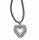 Brighton Contempo Trio Forever Heart Long Necklace