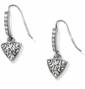Brighton Deco Luxe Triangle French Wire Earrings Silver