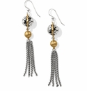 Brighton Elora Luxe Tassel French Wire Earrings Silver-Gold