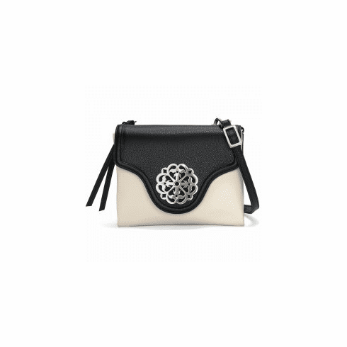 Brighton Eve Messenger Cross Body Black White