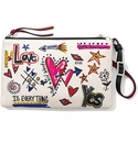 Brighton Gotta Have Heart Cross Body Pouch White-Multi