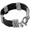 Brighton Interlok Multi Row Leather Bracelet