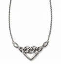 Brighton Interlok V Heart Necklace