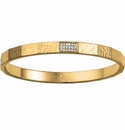 Brighton Meridian Zenith Faceted Bangle Gold