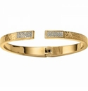 Brighton Meridian Zenith Hinged Bangle Gold